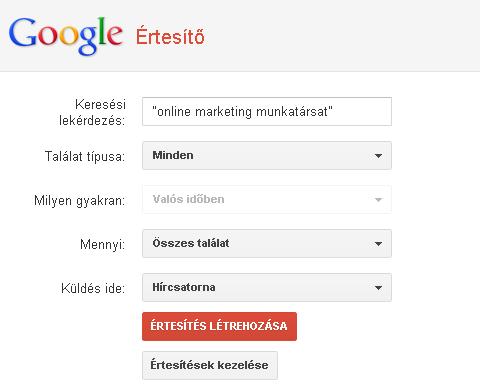 Google Értesítő